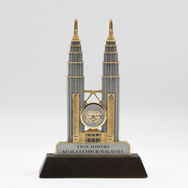 [400G] Twin Towers (Gold) (Wood)