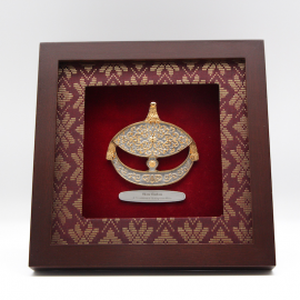 "[598G] Wau Bulan (Gold) (8"" x 8"" inches)"