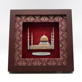 "[601G] Mosque Sultan Salahuddin Abdul Aziz (Gold) (8"" x 8"" inches)"