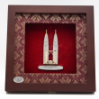 "[603G] Twin Towers (Gold) (8"" x 8"" inches)"