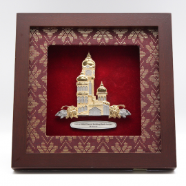 "[604G] Sultan Abdul Samad Building (Gold) (8"" x 8"" inches)"