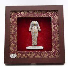 """[607G] Baju Kebaya (Gold) (8"""" x 8"""" inches)"""