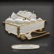 "[611G] Tepak Sireh (Gold) (10"" x 10"" inches)"