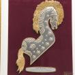 """[623] Kuda Kepang (Gold) (13' 1/2"""" x 16' 1/2"""" inches)"""