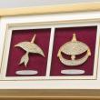 """[648] Wau Kucing & Wau Bulan (Gold) (13"""" x 9"""" inches)"""