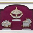 "[650] Wau Bulan, Tepak Sireh & Rebana Ubi (Gold) (13"" x 11"" inches)"