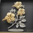 "[675G] Bunga Raya (Gold) (10"" x 10"" inches)"