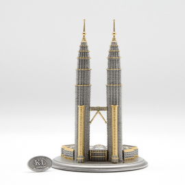 "[713G] Twin Towers (Gold) (L) (5' 3"" inches)"