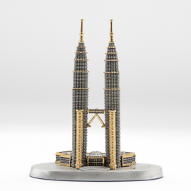 "[848G] Twin Towers (Gold) (S) (3' 1/2"" inches)"