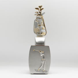 [850] Golf Trophy (Wood) (Gold)
