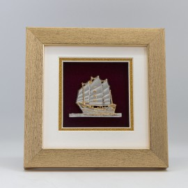 "[883] Sailing Boat (6"" x 6"" inches)"