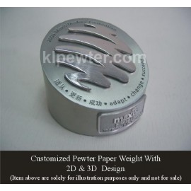 Customized Pewter Paper Weight
