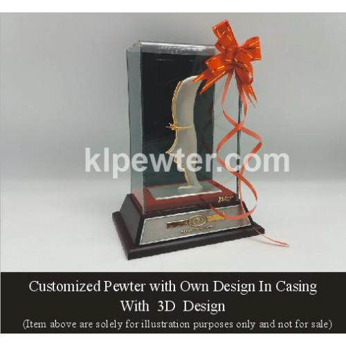 Customized Pewter in Casing 3D Design