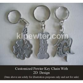 Customized Pewter Keychain