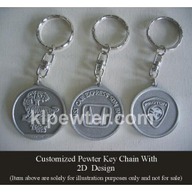 Customized Pewter Keychain