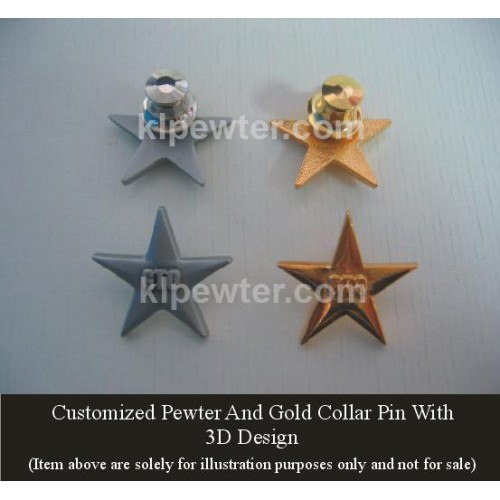 Special Order Collar Pin 3D Design