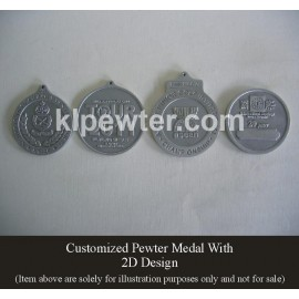 Customized Pewter Medal