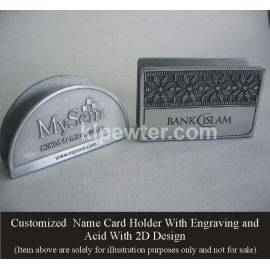 Customized Pewter Card Holder