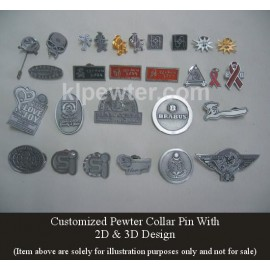 Collar Pin 2D & 3D Design