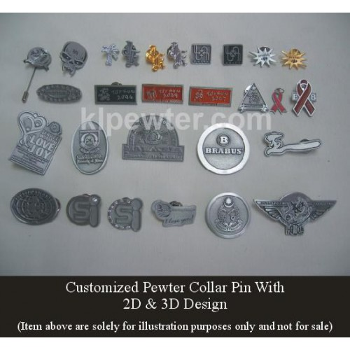 Collar Pin 2D & 3D Design
