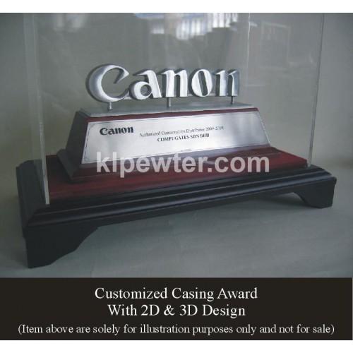Pewter in Casing 3D Design