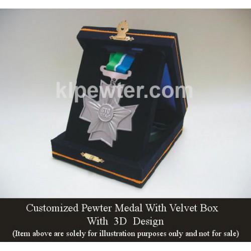 Medal 3D Design with Velvet Box