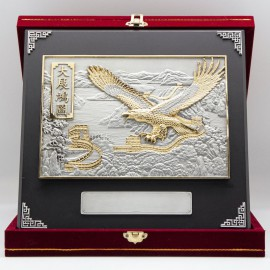 "[939G] Flying Eagle (Gold) (12""x12"" inches)"