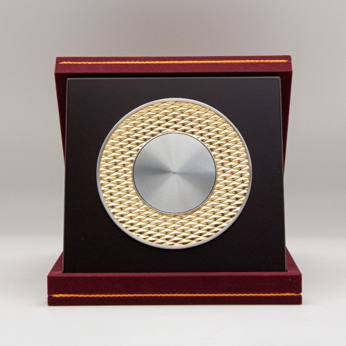 "[940G] Rhombus Design (Gold) (8""x8"" inches)"
