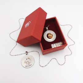 [743] Round Batik (Gold)