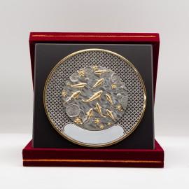"""[1008G] Koi Fish (Gold) (8"""" x 8"""" inches)"""