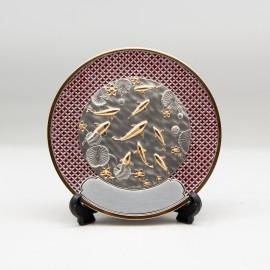 "[1009G] Koi Fish (Gold) (Enamel) (6"" inches)"