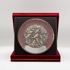 "[1010G] Koi FIsh (Gold) (Enamel) (8"" x 8"" inches)"