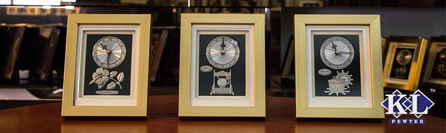 Gold Frame with Clock