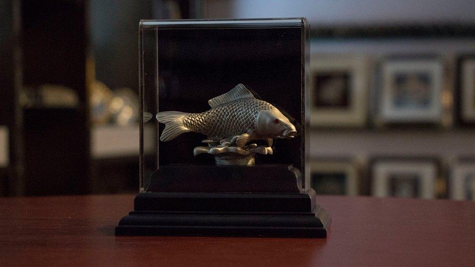 鲤鱼锡像装饰盒